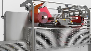 High-speed hygienic packaging system for frozen food