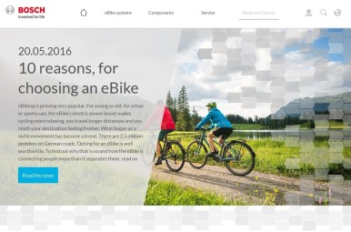 Bosch eBike Systems relaunches website