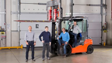 Bosch and SAP connect forklifts and goods