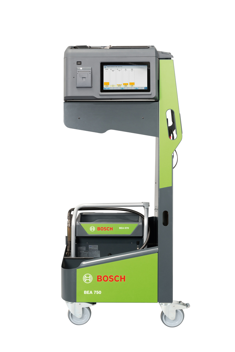 For the first time, Bosch uses Augmented Reality for the product explanation at its BEA 750 emission tester
