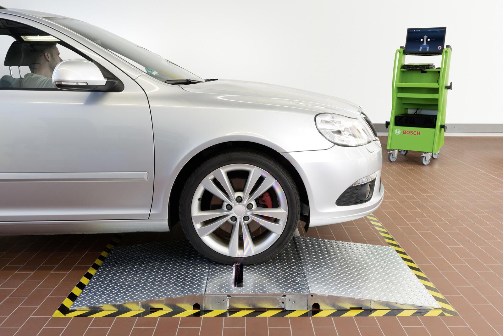 Automatische Reifenprofilmessung beim Werkstatt-Check