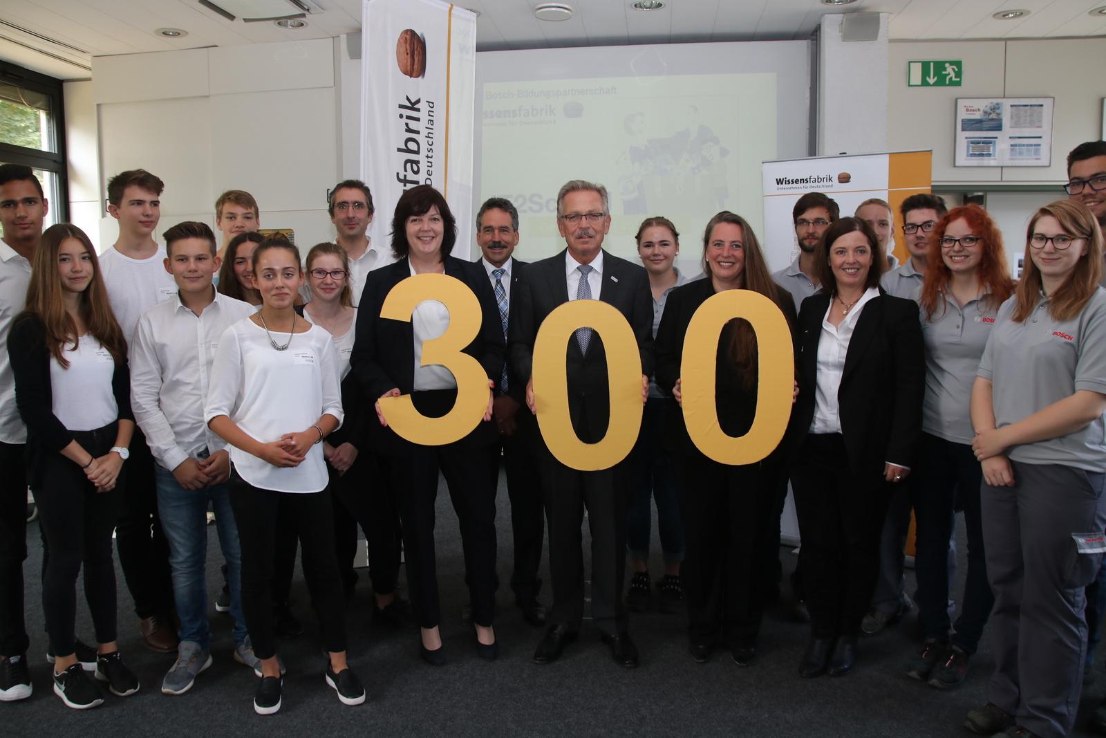 Wissensfabrik - 300. Bosch-Bildungspartnerschaft