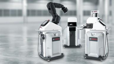 Bosch zeigt berührungslos kollaborierende Roboter für die flexible Fertigung