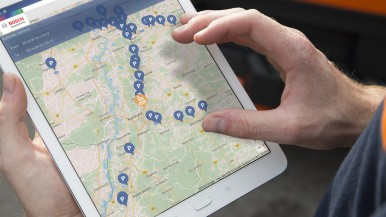 Erholsamer Schlaf im Lkw: Bosch Secure Truck Parking erhöht die Sicherheit