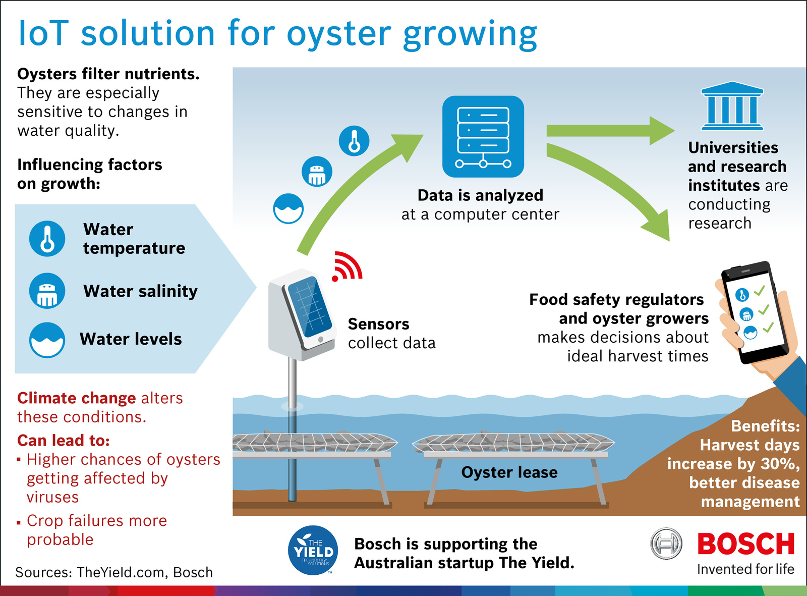 Internet for aquaculture: how sensors are saving the harvest Solution of 'The Yield', an Australian startup supported by Bosch