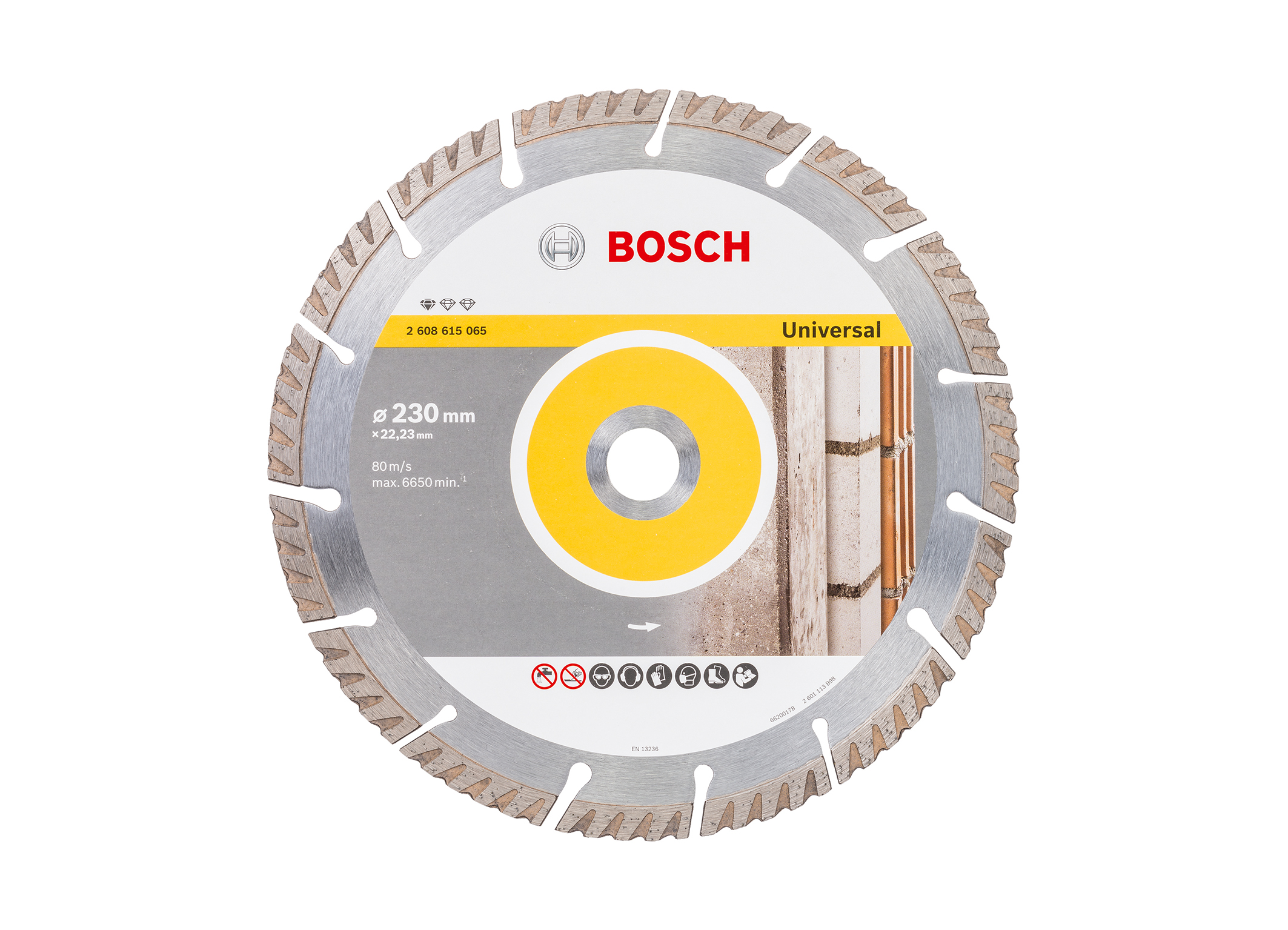 """30 percent faster due to optimized design: Bosch """"Standard for Universal"""" diamond cutting disk"""