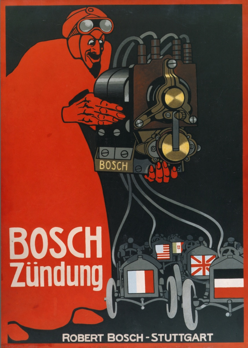 Bosch adverstising magneto ignition Red Devil, 1910