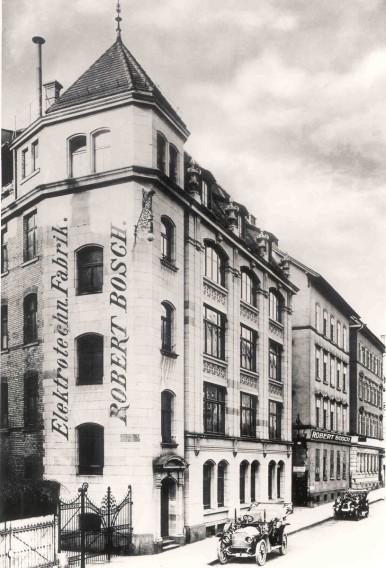 Bosch's first factory in Stuttgart, Germany, 1901
