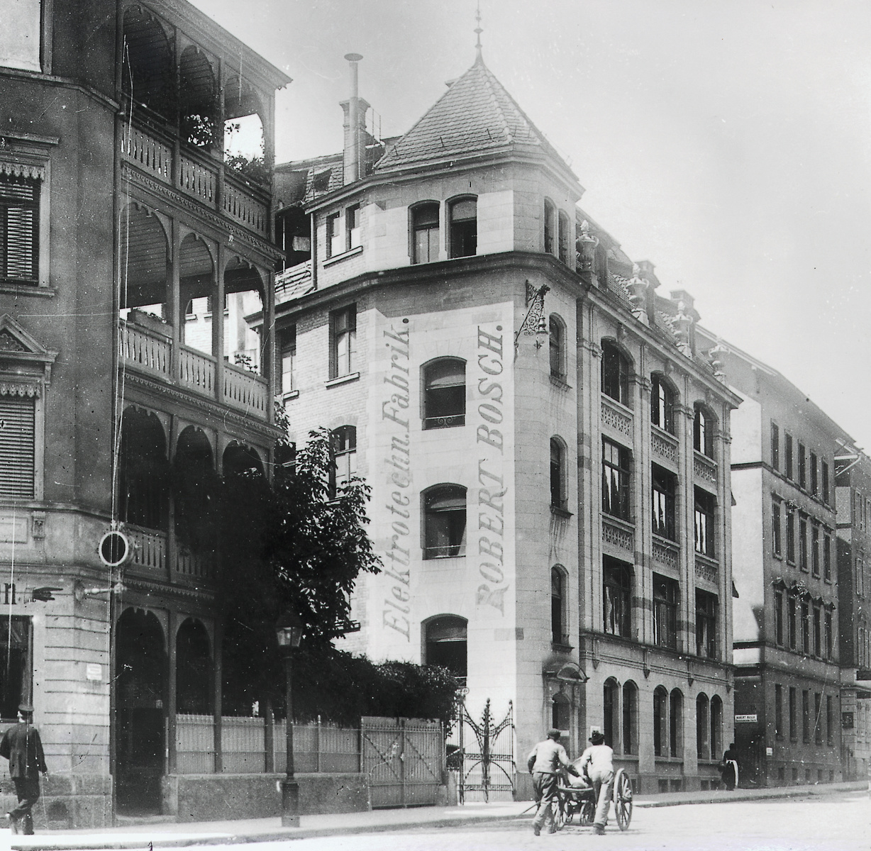 Bosch's first factory in Stuttgart, 1901, taken in 1931