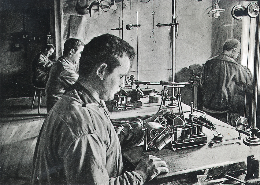 Bosch workers manufacturing magnetos, 1900