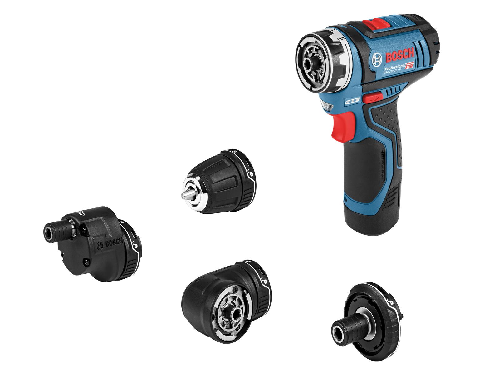 5-in-1-Akku-Bohrschrauber-System für Profis: Bosch FlexiClick jetzt mit 12 Volt
