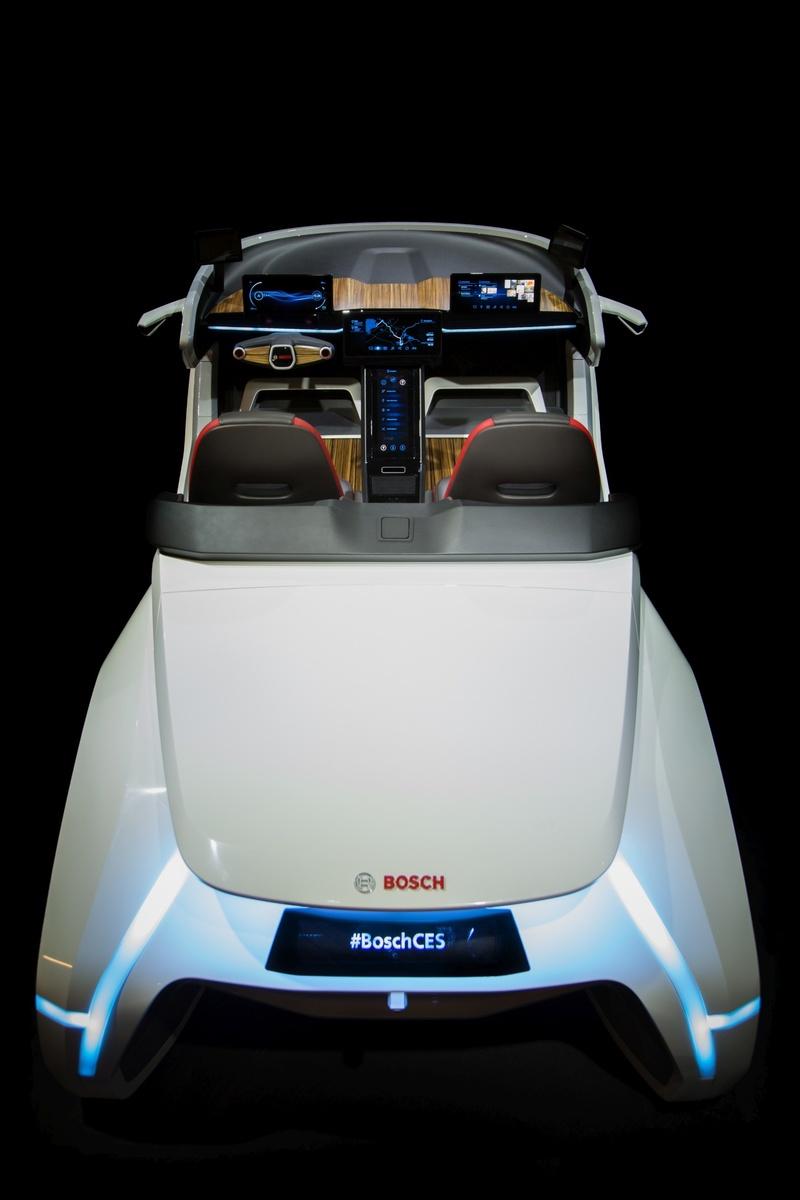 Bosch Konzeptfahrzeug auf der CES 2017