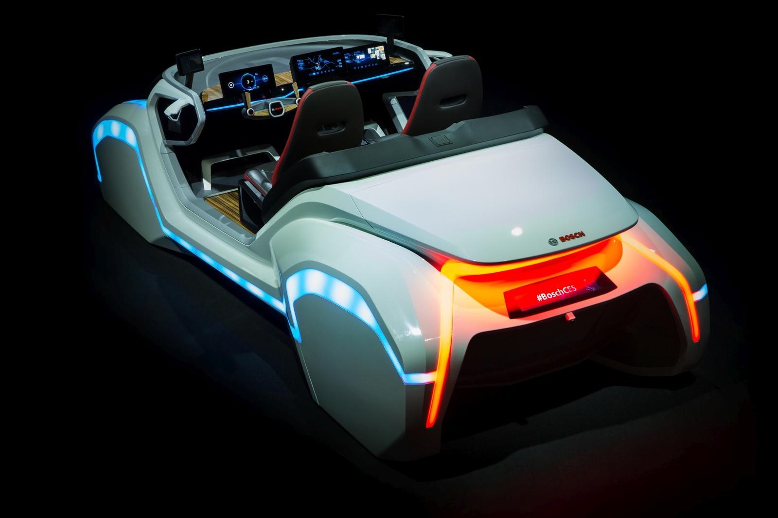 Bosch-Konzeptfahrzeug auf der CES 2017