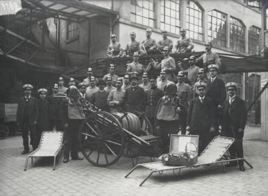 100 Jahre Bosch Werkfeuerwehr - erste Mannschaft 1917
