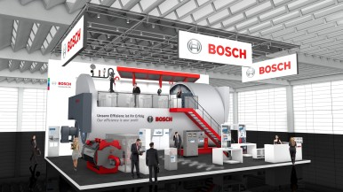 Largest boiler from Bosch as highlight at the trade fair