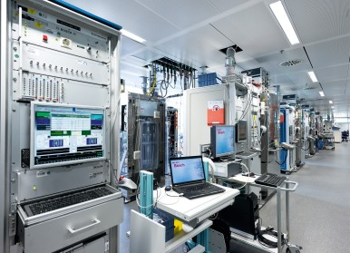ESP endurance tests at the Bosch test center in Abstatt