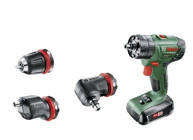 Interchangeable adapters offer maximum flexibility: Bosch AdvancedImpact 18 QuickSnap