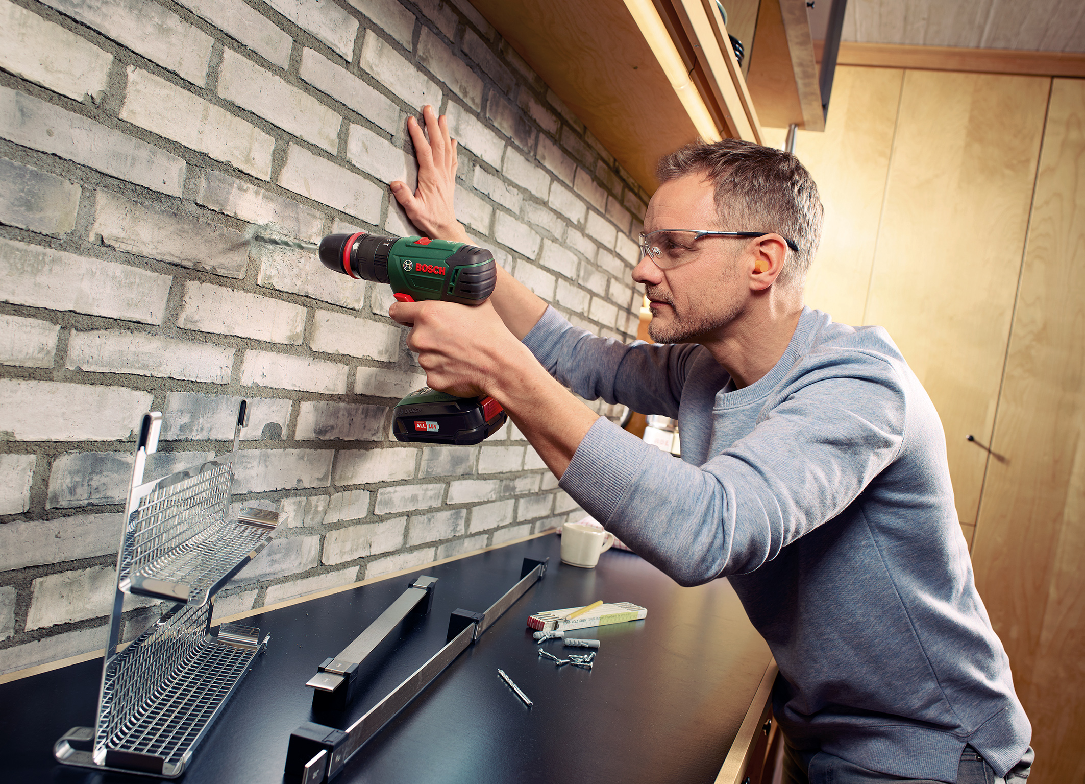 Cordless combi drill system for DIYers: Bosch AdvancedImpact 18 QuickSnap with drill chuck adapter