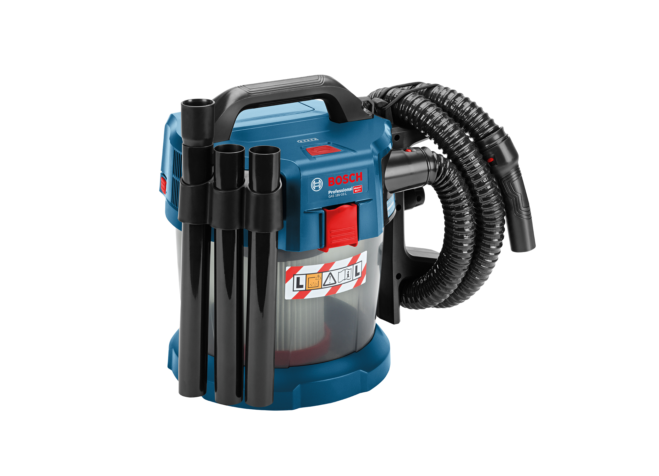 Great whirl – little dust thanks to rotational air flow: the GAS 18V-10 L Professional wet/dry extractor from Bosch for professionals