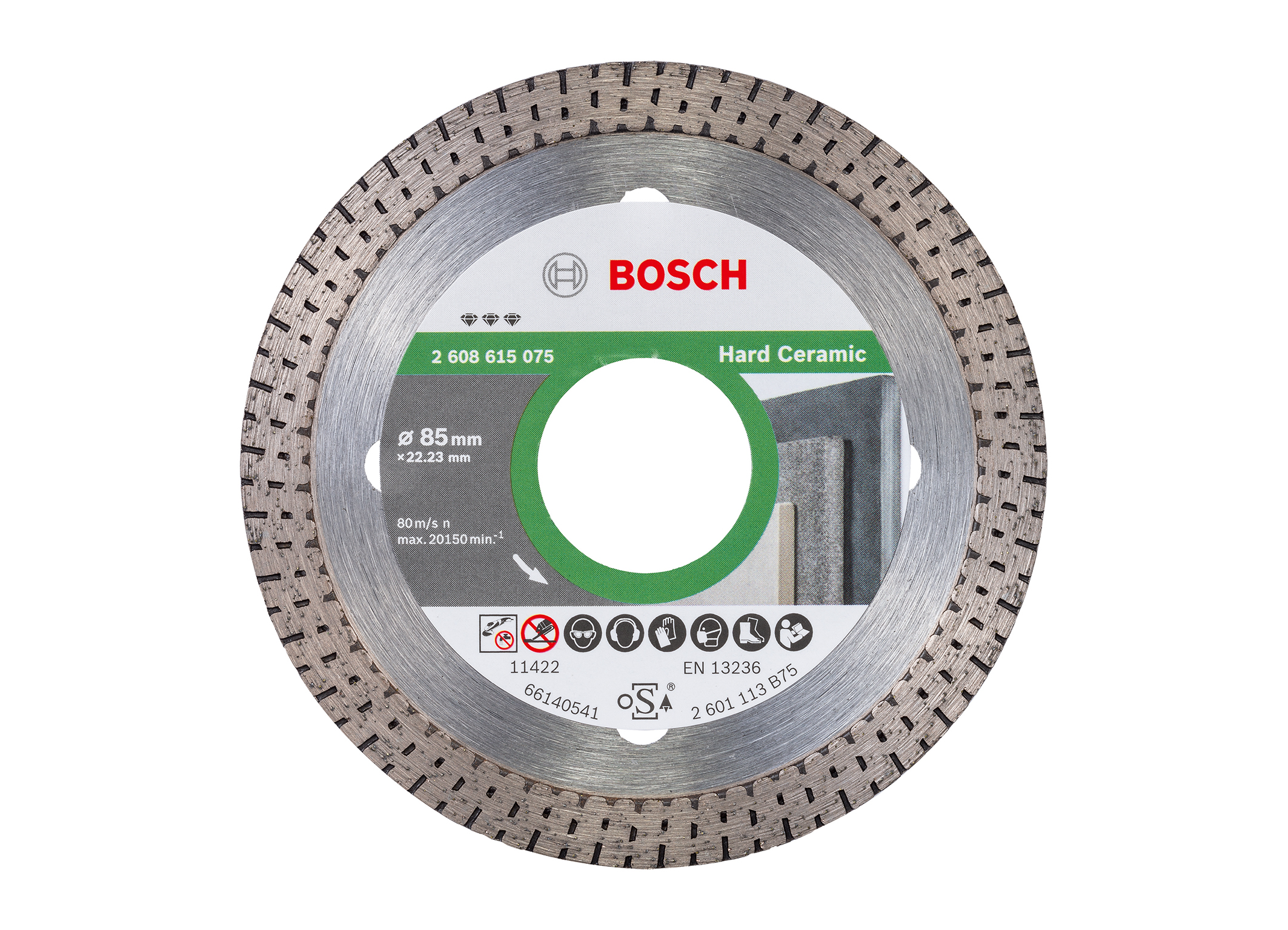 "Precision cutting of fine stoneware tiles:  the ""Best for Hard Ceramic"" diamond cutting disk from Bosch for professionals"
