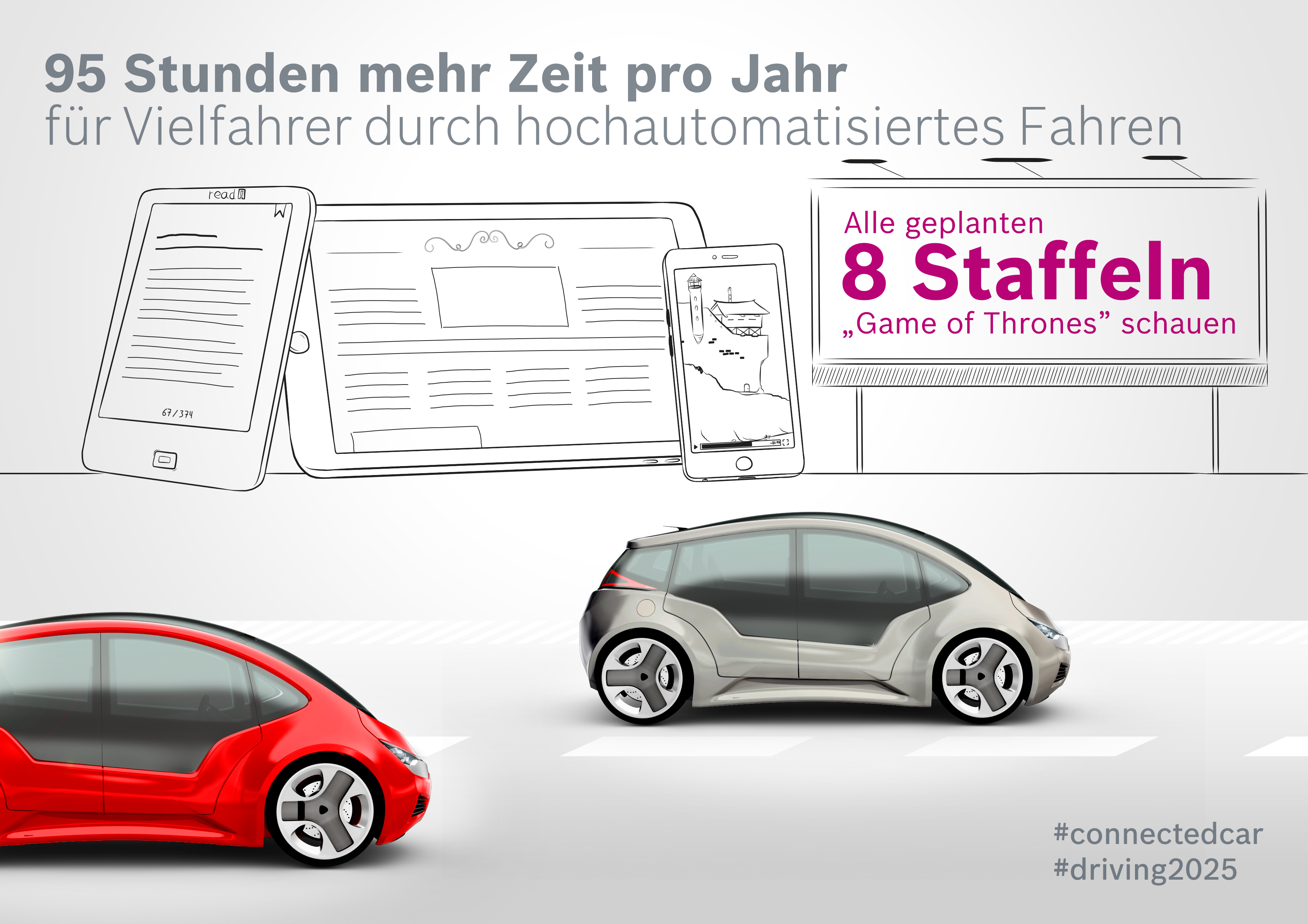 """Studie """"Connected Car Effect 2025"""": 95 Stunden mehr Zeit pro Jahr"""