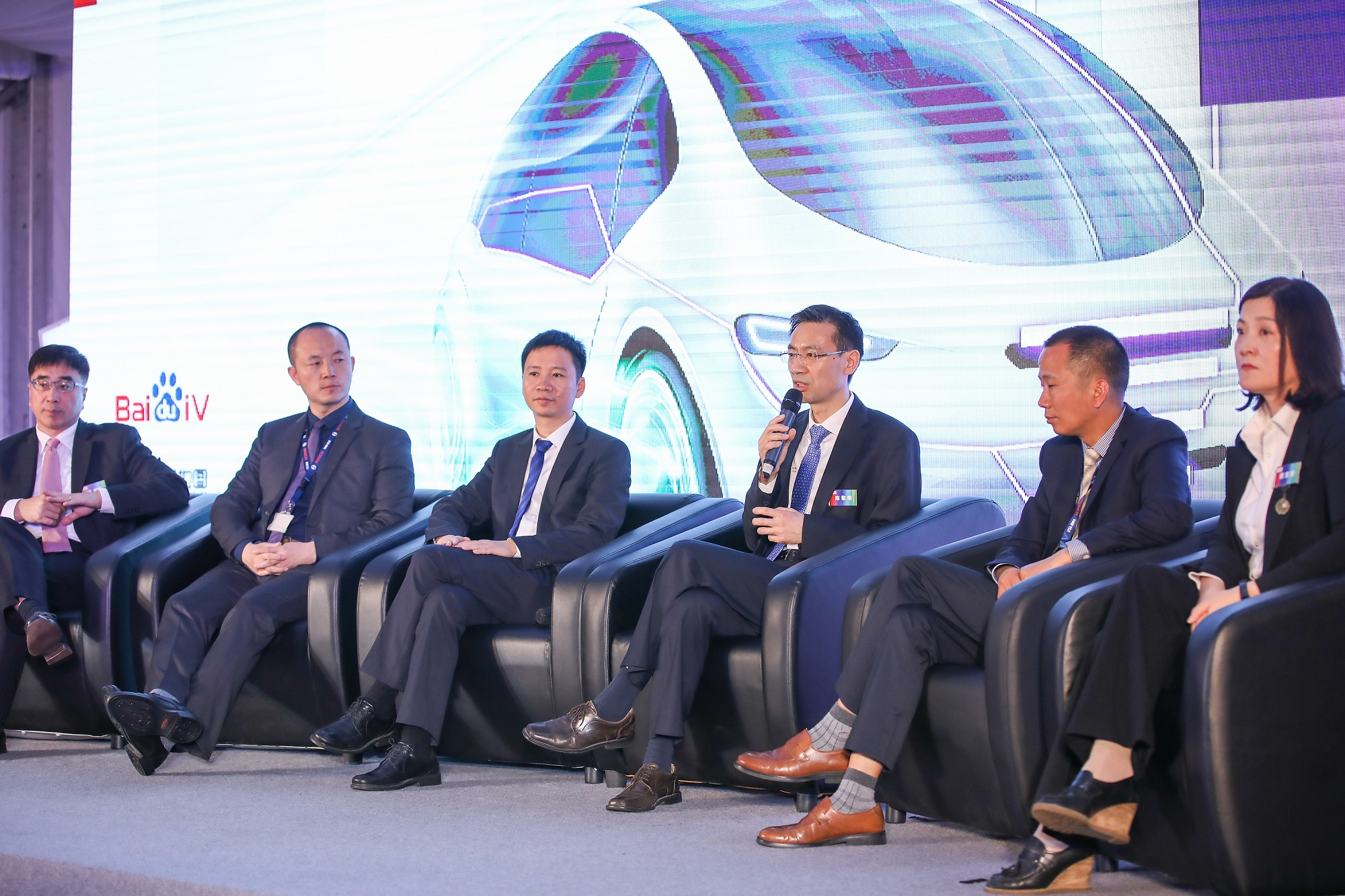 Representatives of Bosch, AutoNavi, Baidu, and NavInfo talk about their collaboration agreement.