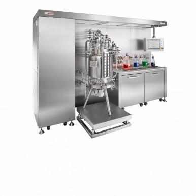 Pilot fermenter for manufacturing biopharmaceutical APIs