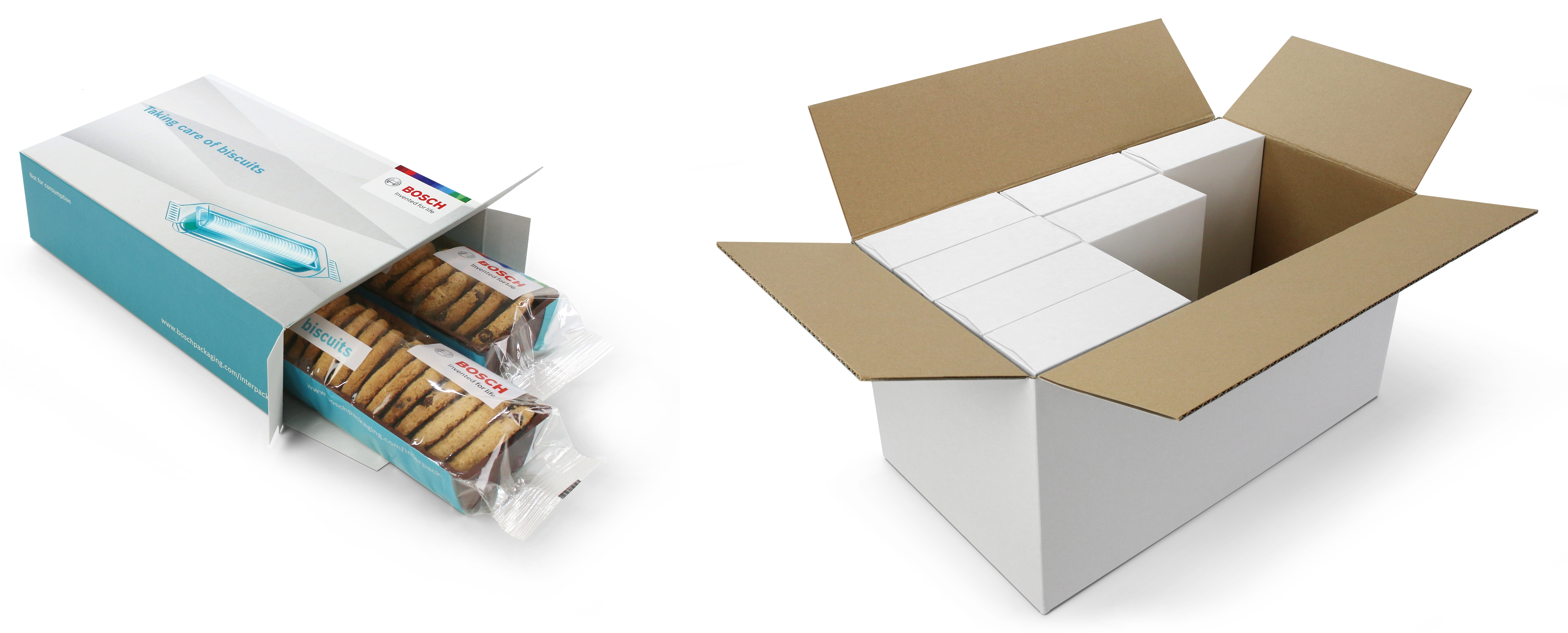Biscuit-on-edge packaging system