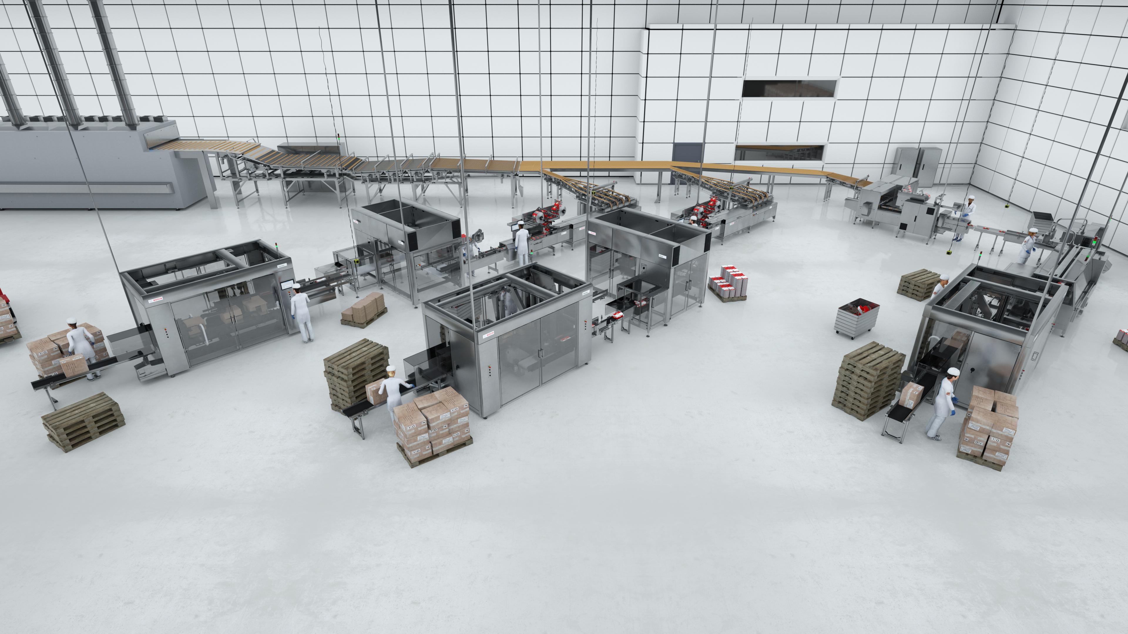 Bosch stellt skalierbare Verpackungssysteme für Kekse und Kräcker vor