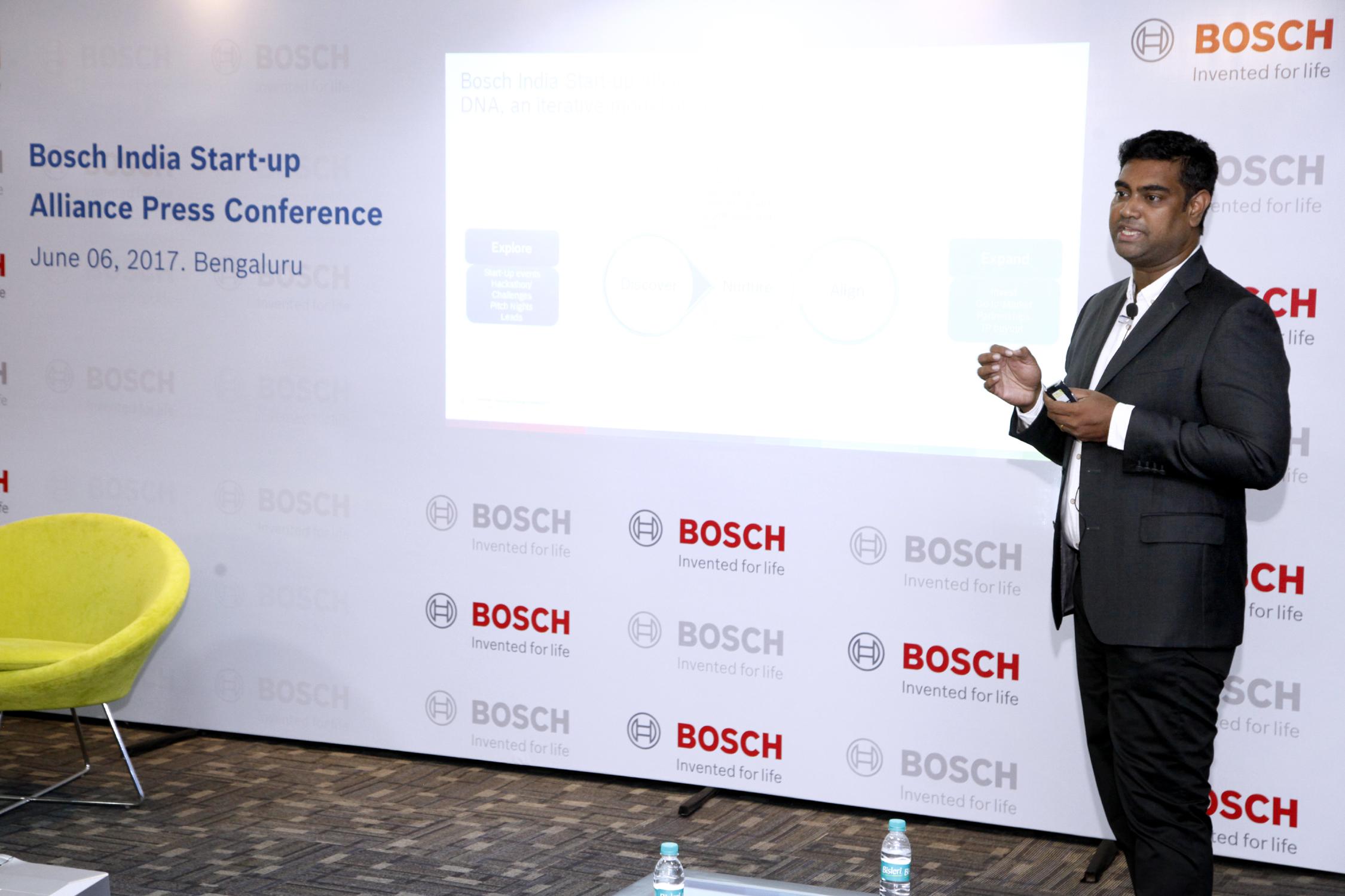 Manohar Esarapu, the head of Bosch India's D.N.A. corporate venture program