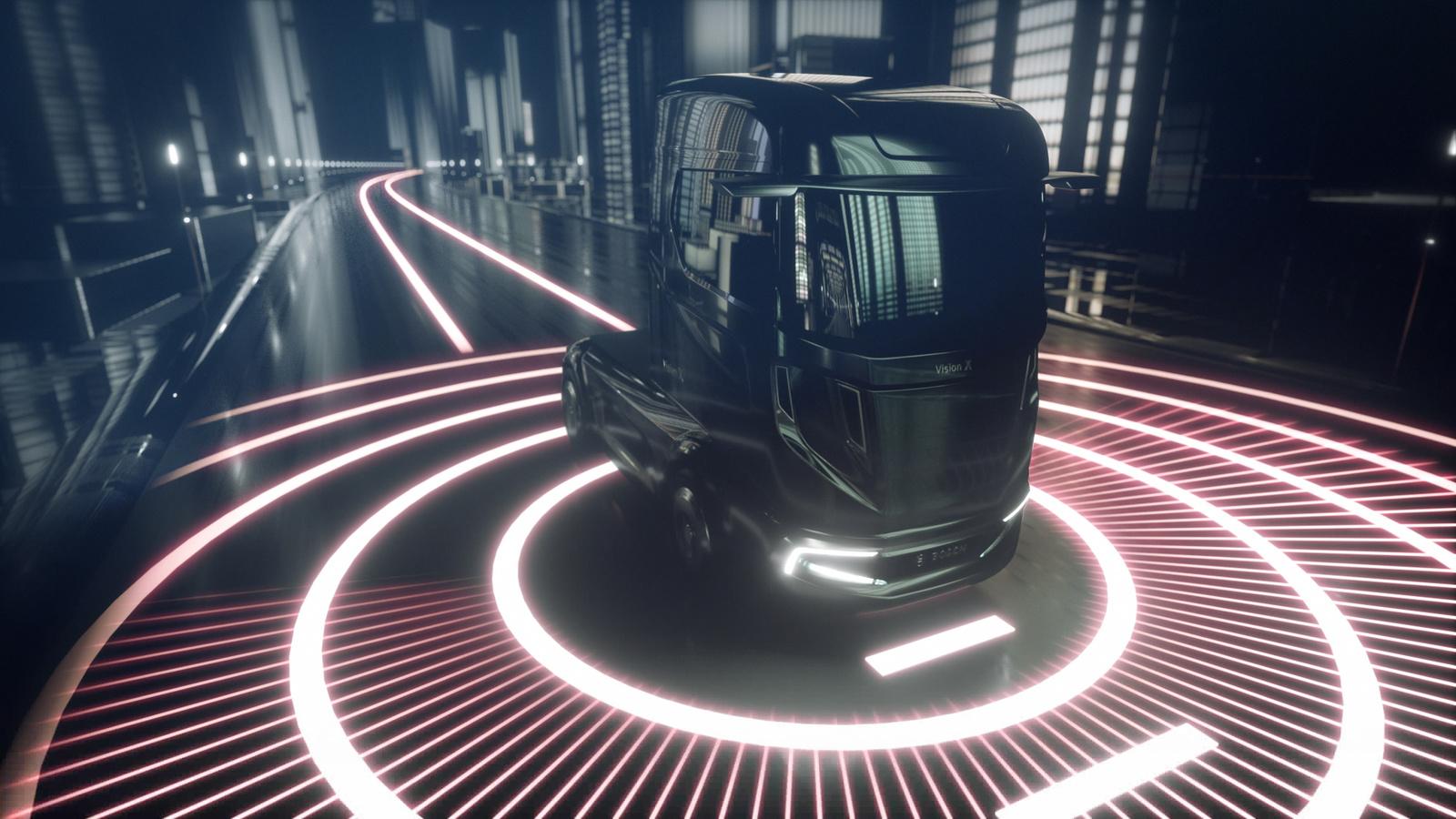 """Die Studie """"VisionX"""" von Bosch zeigt den Lkw von 2026 schon heute"""