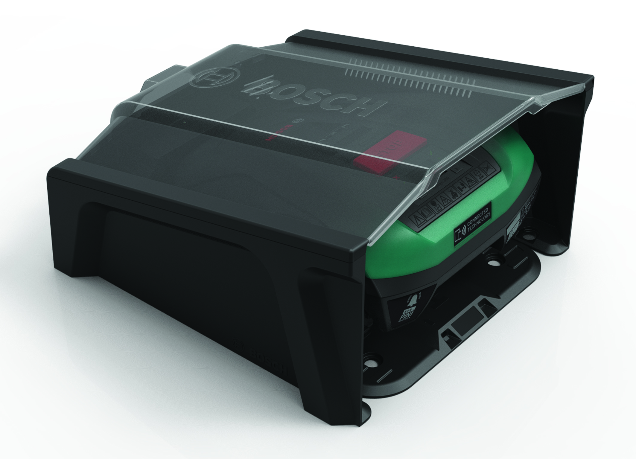 Additional protection for the new Indego: The Indego Garage for robotic lawnmowers from Bosch
