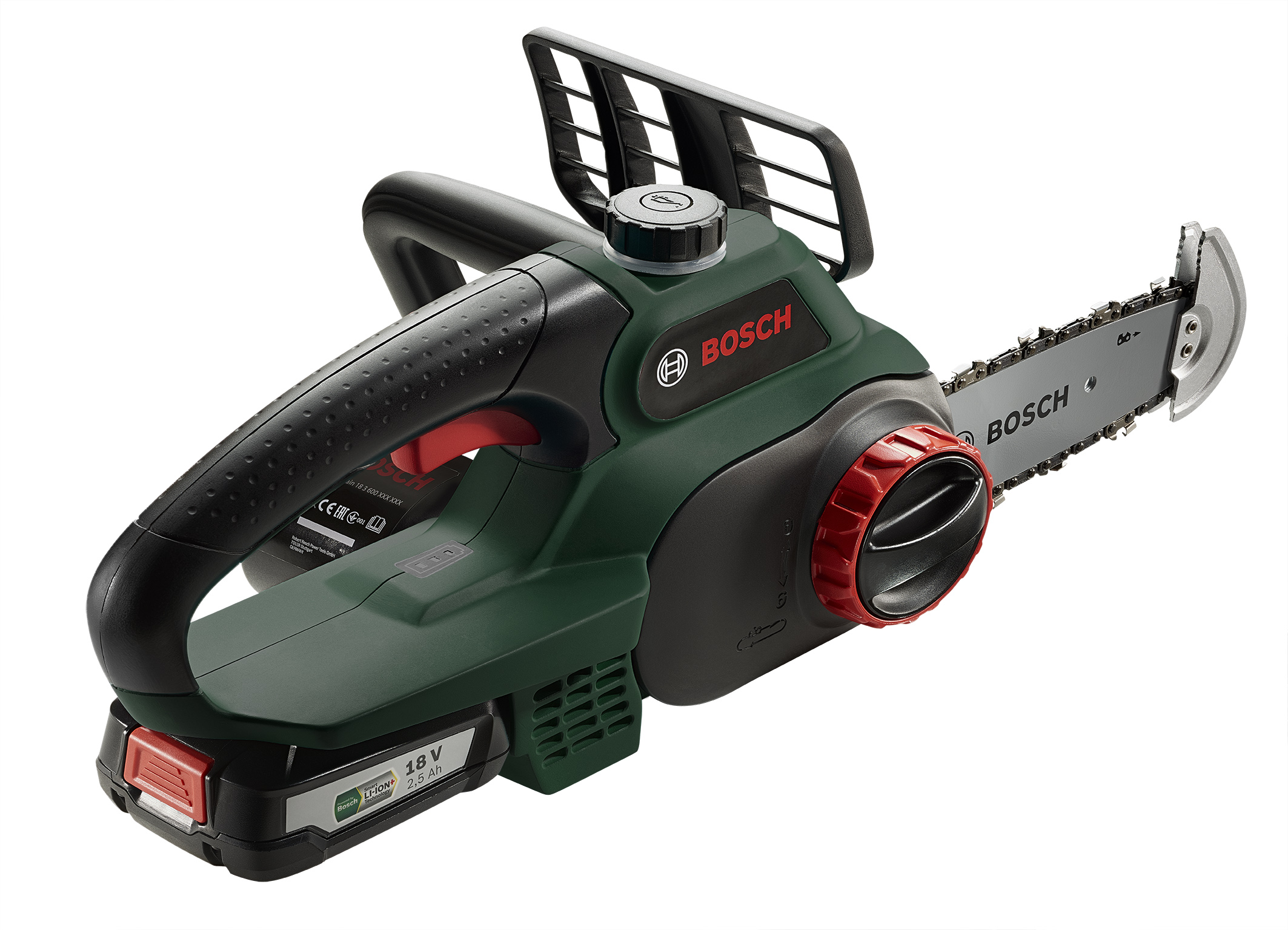 Best power-to-weight ratio in its class: Convenient 18 volt chainsaw from Bosch