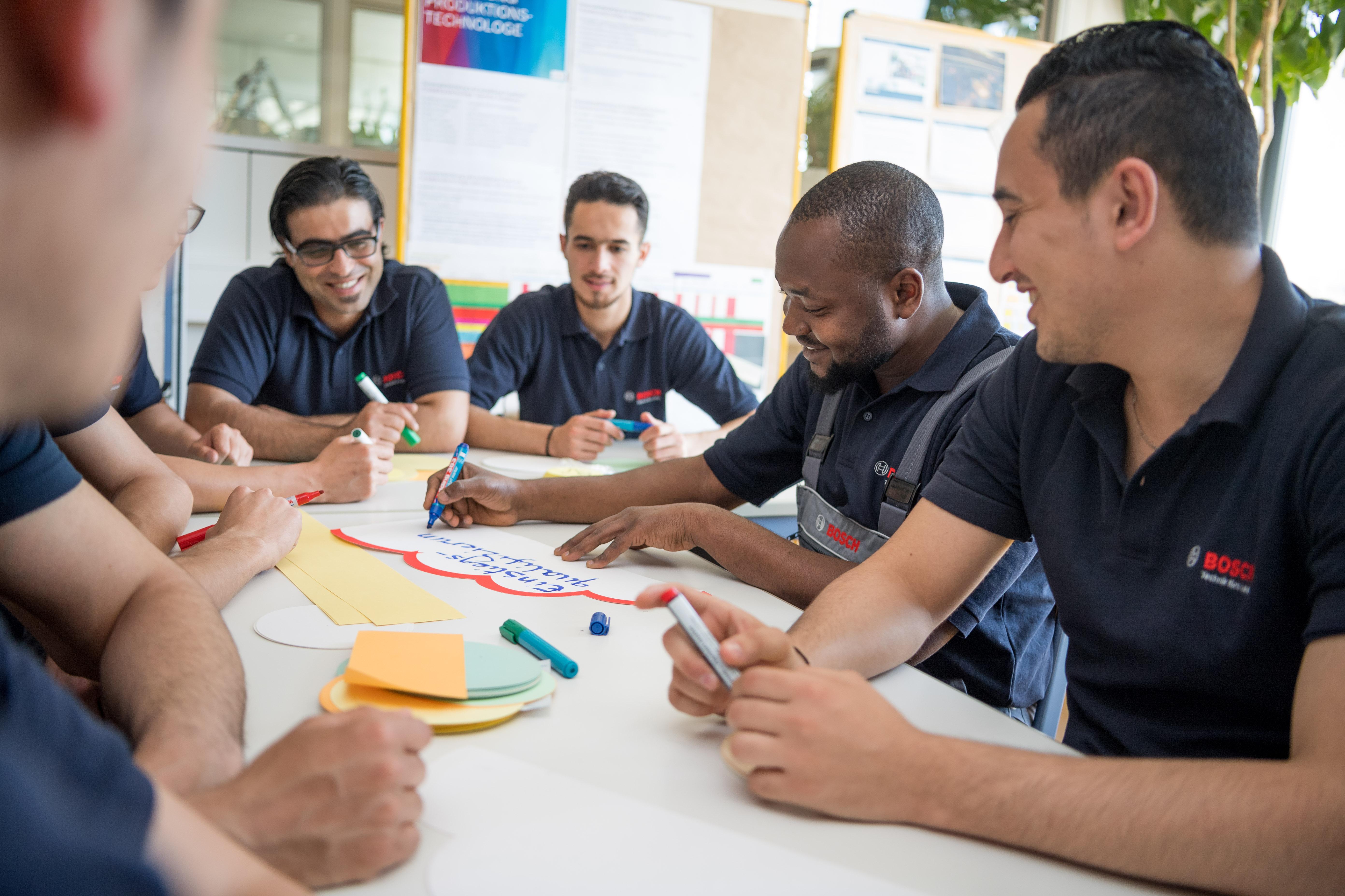 Flüchtlingsintegration Qualifizierung von Flüchtlingen in Feuerbach