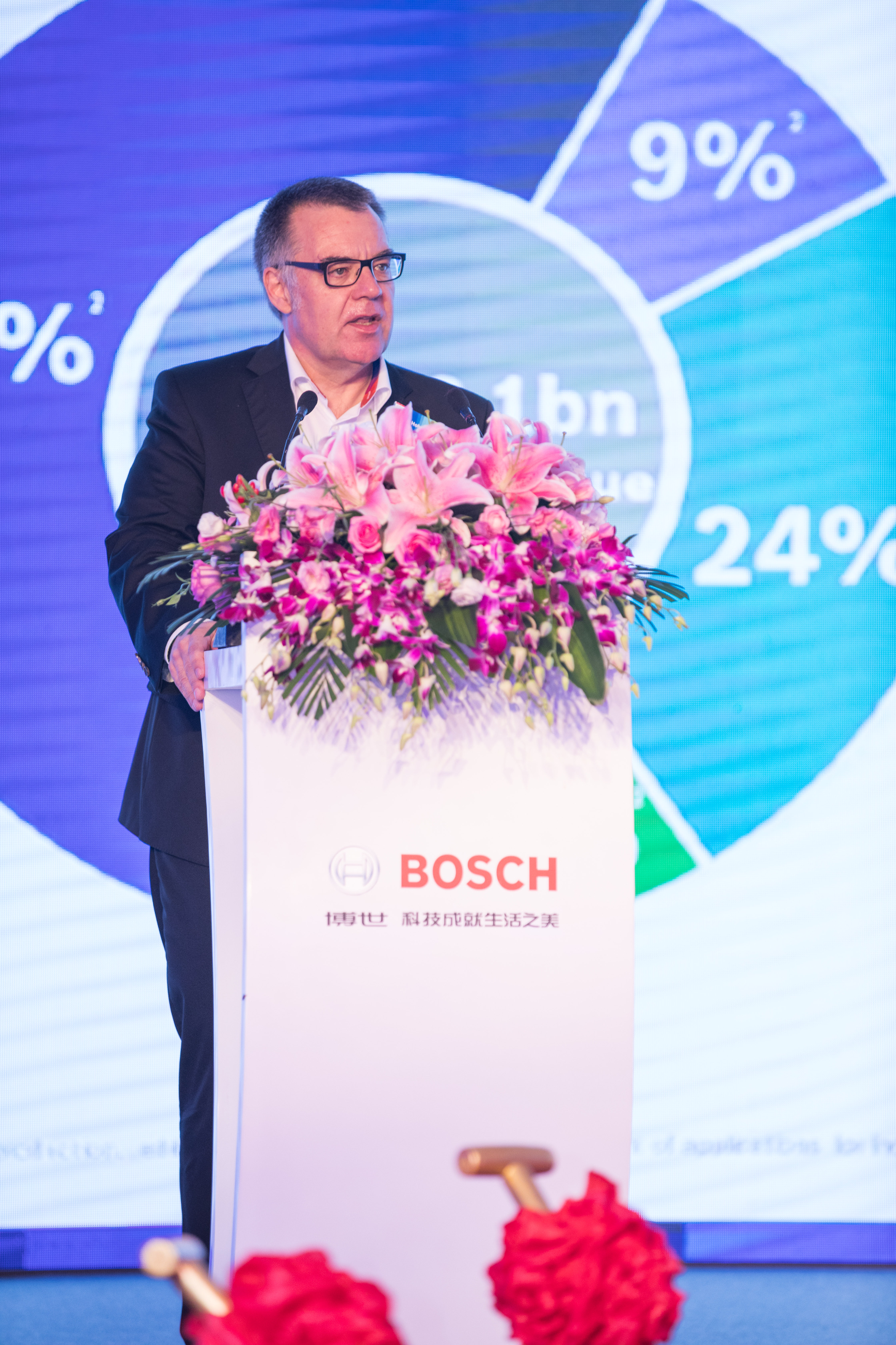 Dr. Dirk Hoheisel, member of the board of management of the Bosch Group, in Nanjing