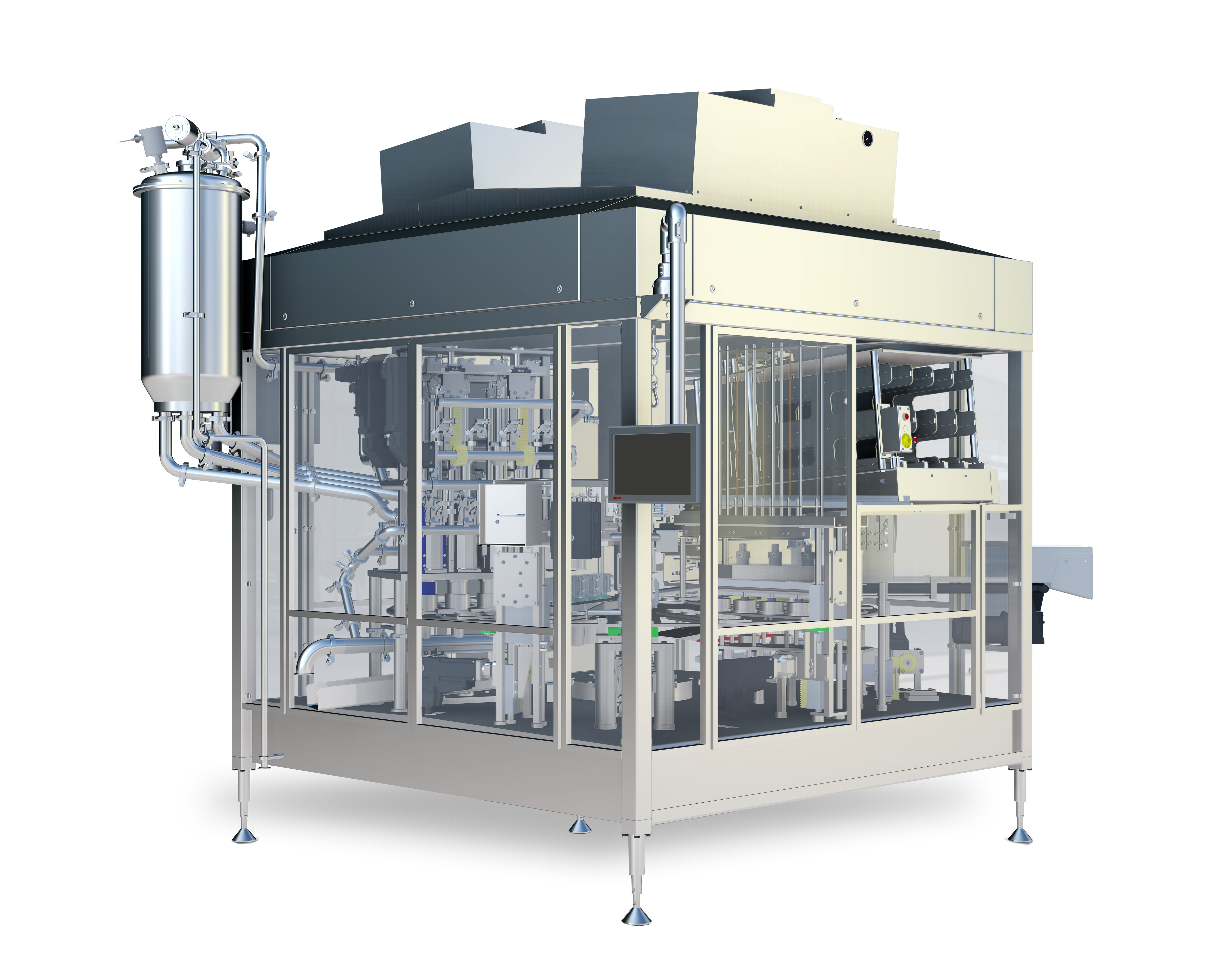 Next generation rotary filler for dairy and food products