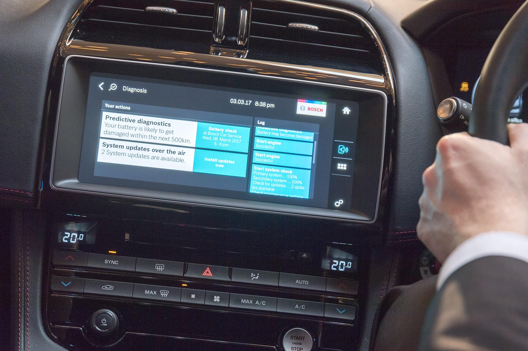 Demo-Fahrzeug für vernetzte Mobilitätsdienste