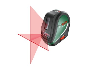 For challenging interior projects: Bosch UniversalLevel 3 cross line laser with second vertical laser line