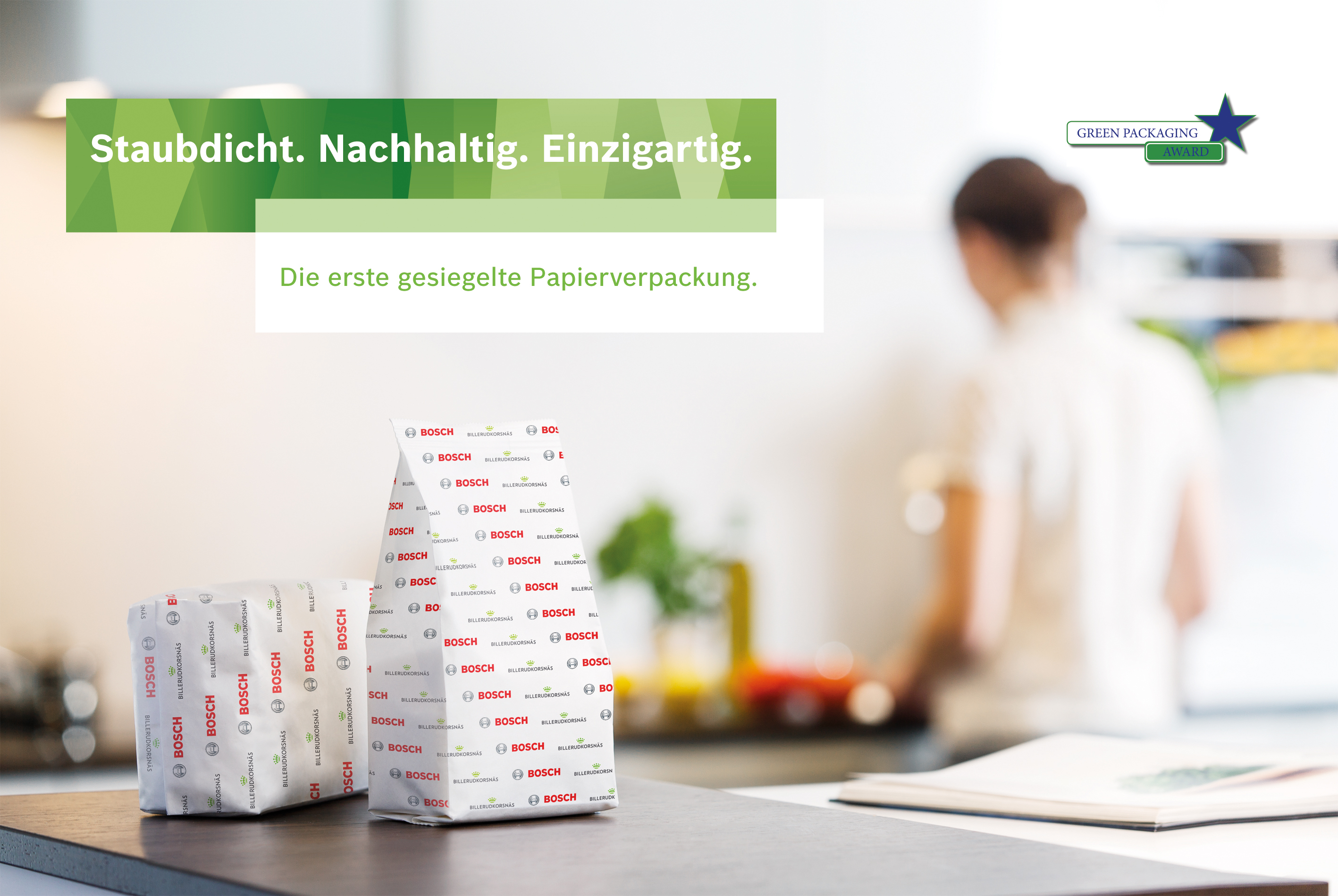 Green Star Packaging Award 2017 für gesiegelte Papierverpackung