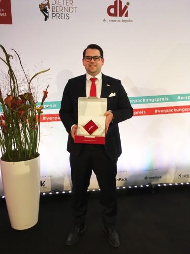 André Philipp mit dem Deutschen Verpackungspreis 2017