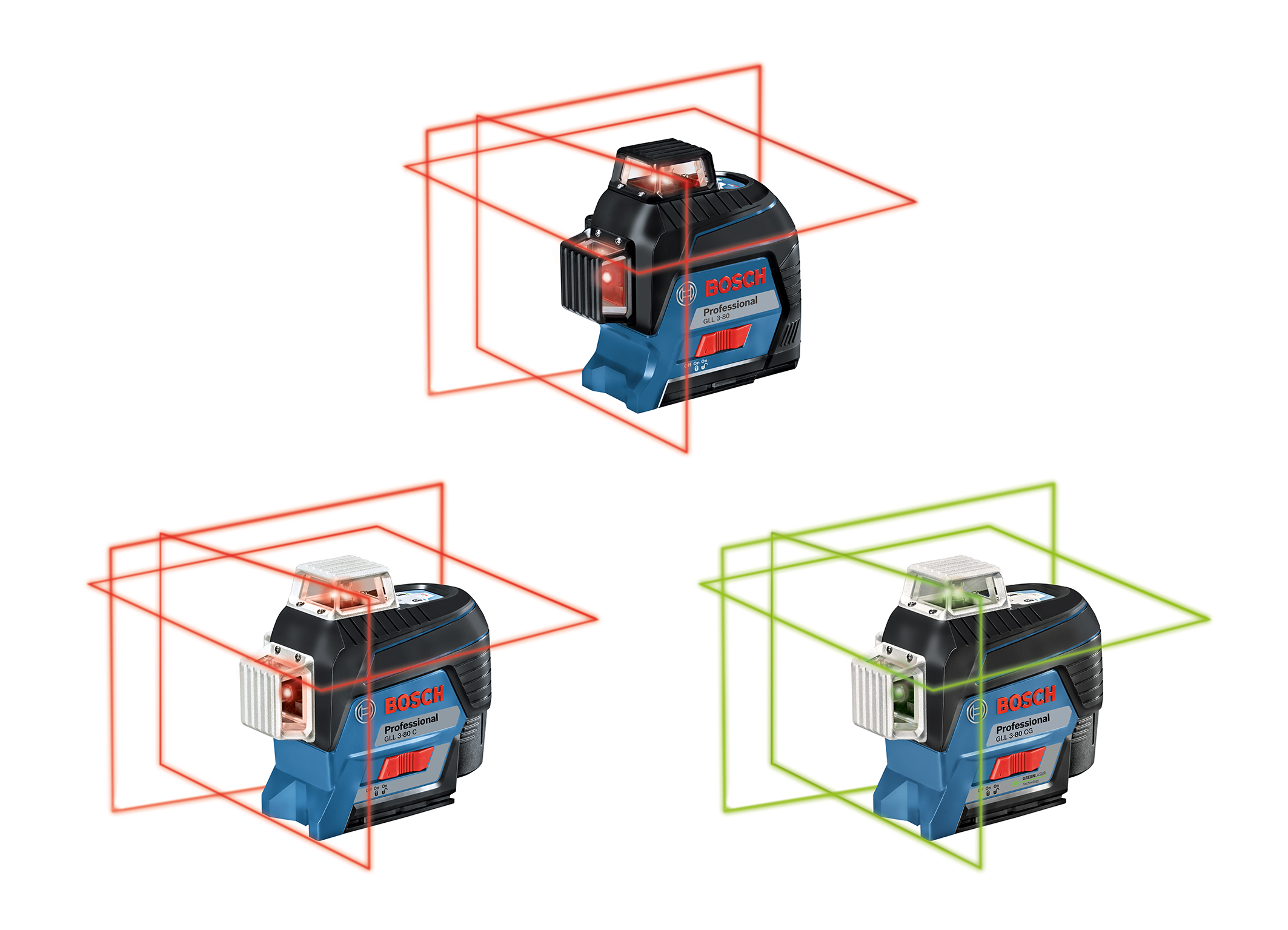 Connectivity function for precise alignment: New generation of professional Bosch line lasers