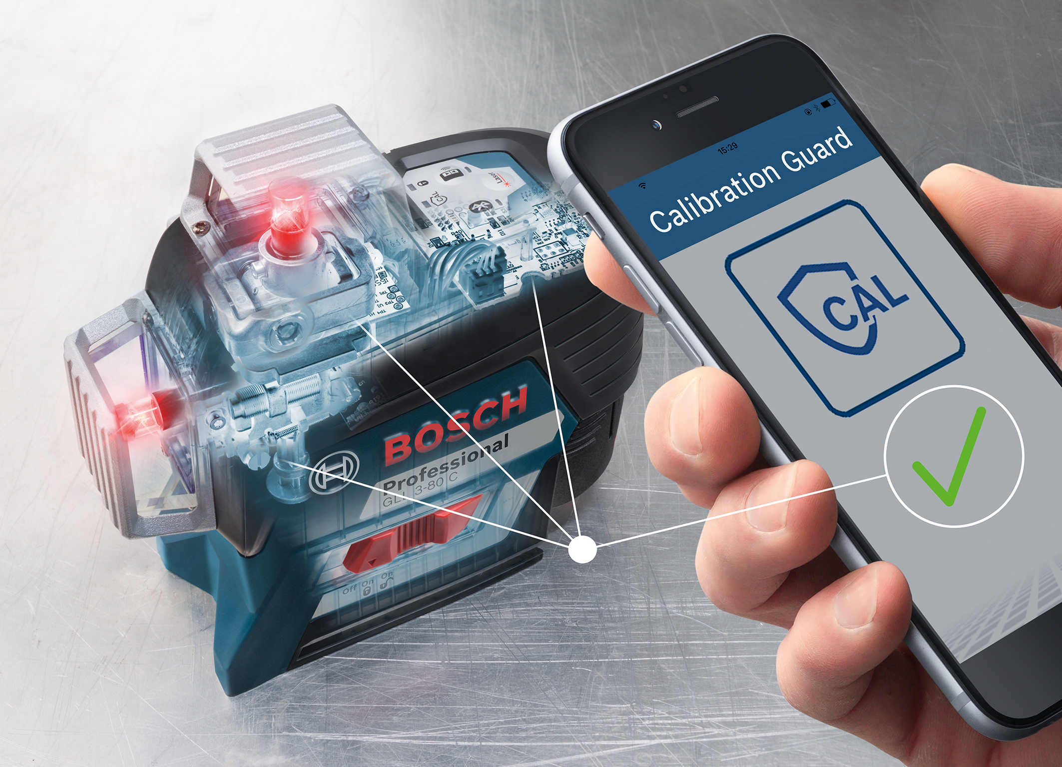 Bosch sensors monitor calibration: New generation of professional Bosch line lasers