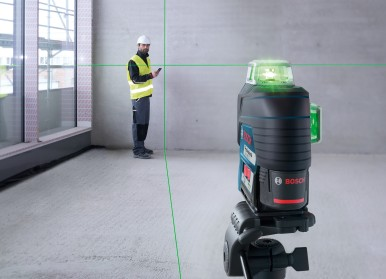 Three 360° lines with high visibility: New generation of professional Bosch line lasers