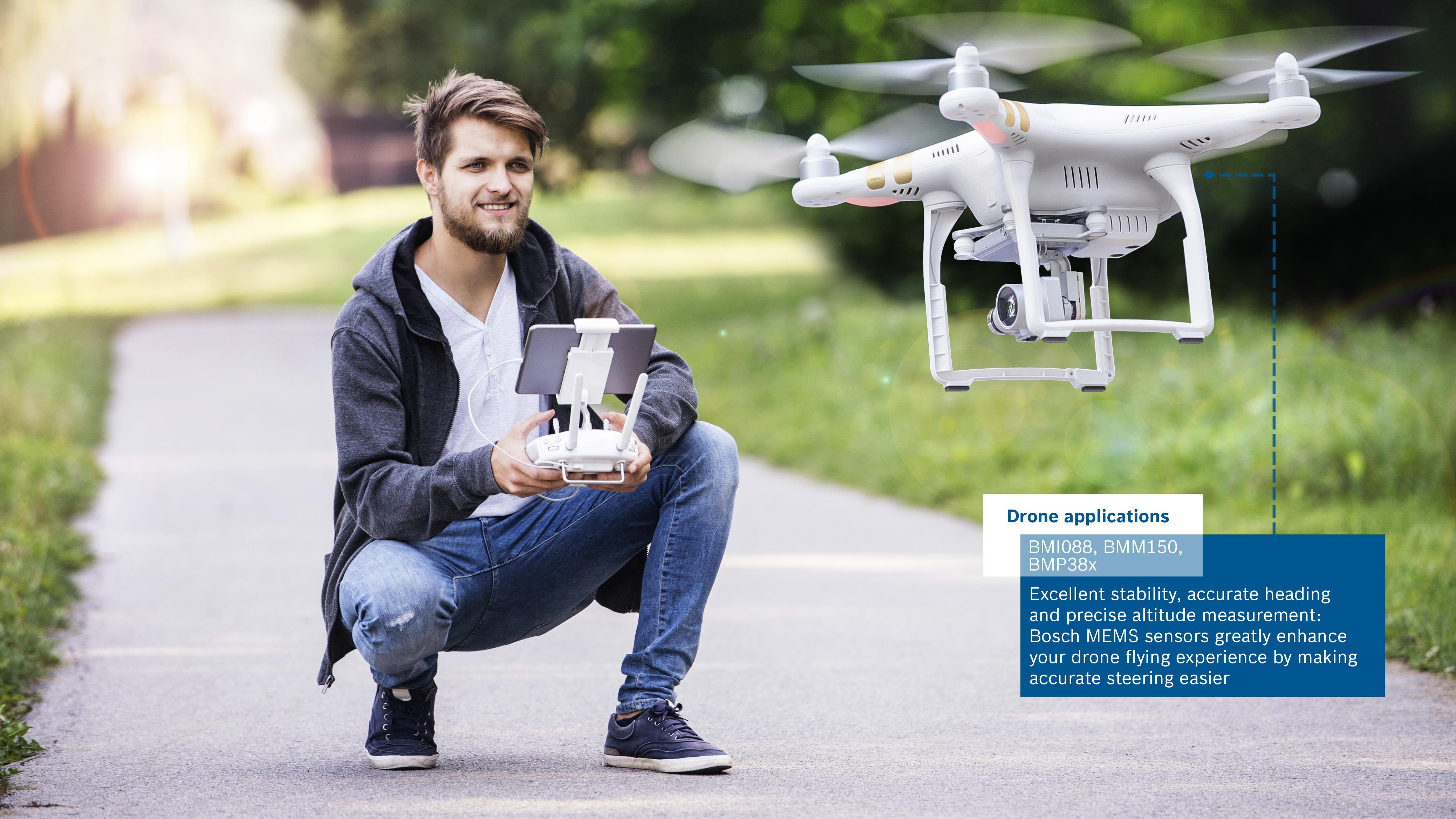 MEMS-Sensor BMI088 verbessert Flug- und Navigationseigenschaften von Drohnen