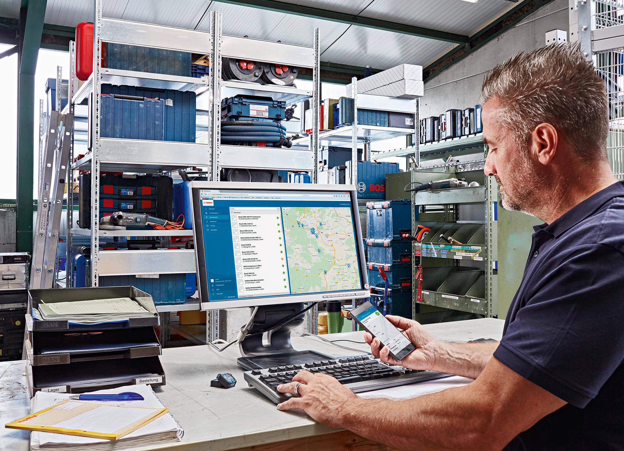 """Optimierte Software mit intuitiv bedienbarer Nutzeroberfläche: """"TrackMyTools"""" von Bosch mit neuen Funktionen"""