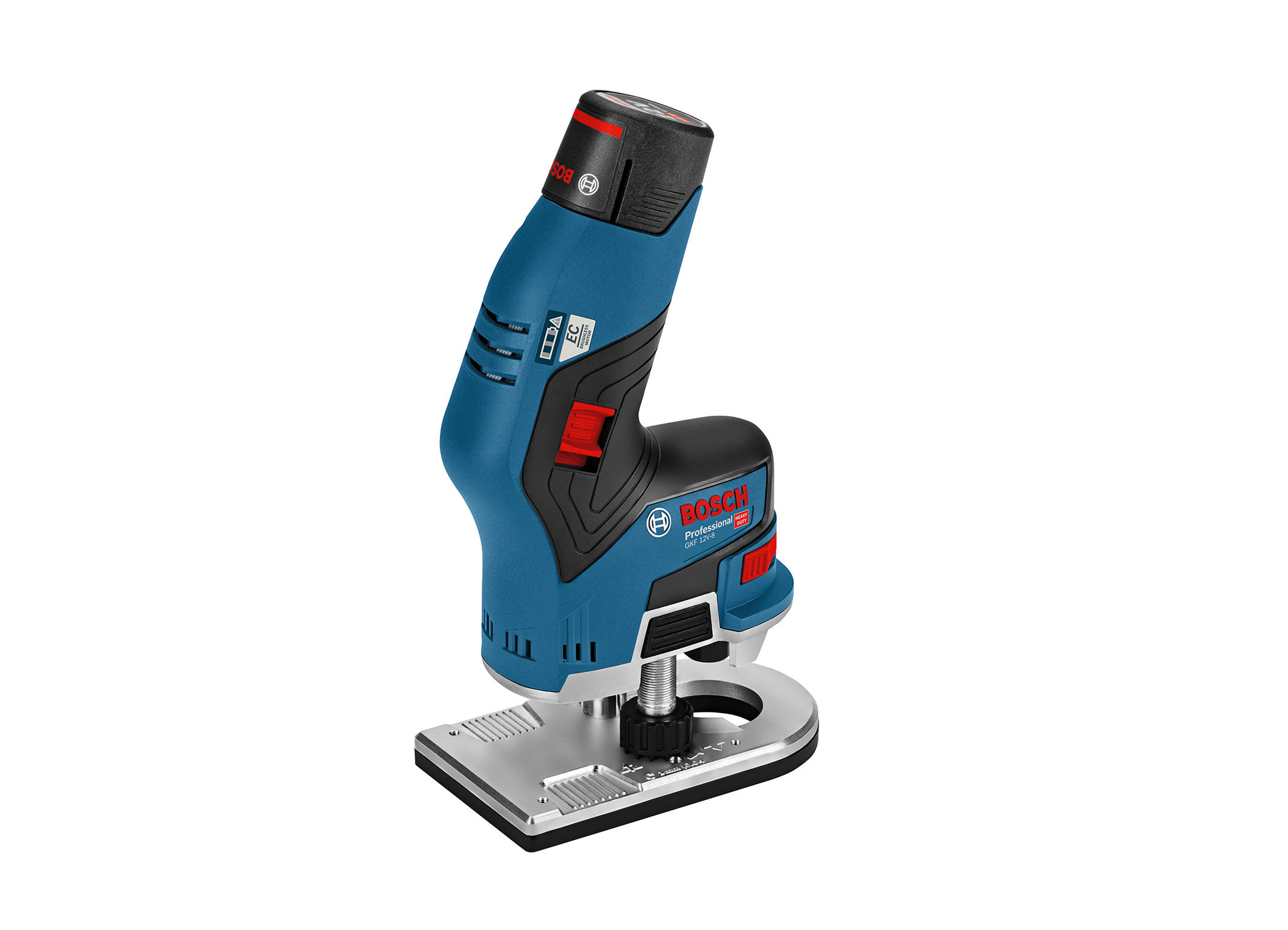 The first cordless edge router with 12 V: the GKF 12V-8 Professional from Bosch