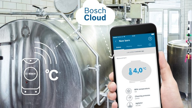 Sensor measures milk temperature