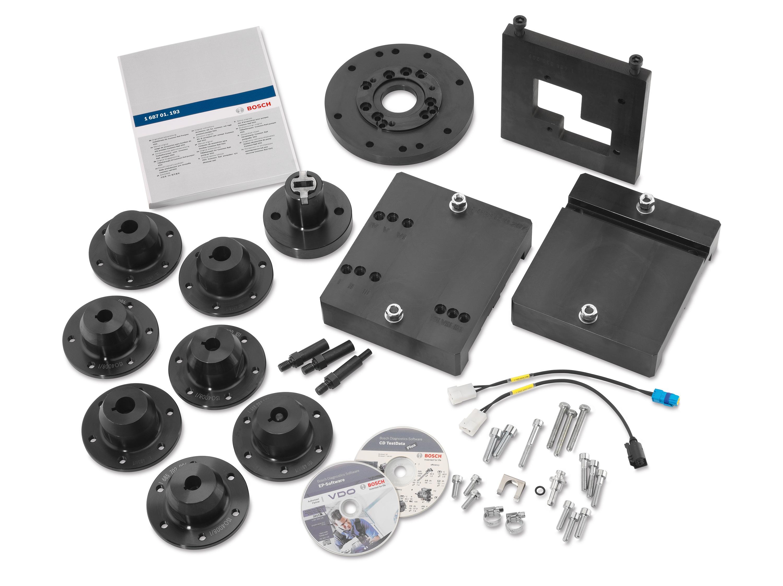Bosch VDO Kit eingebaut in Bosch EPS 708 Dieselprüfstand