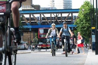 Commute to work by e-bike: fast and eco-friendly.