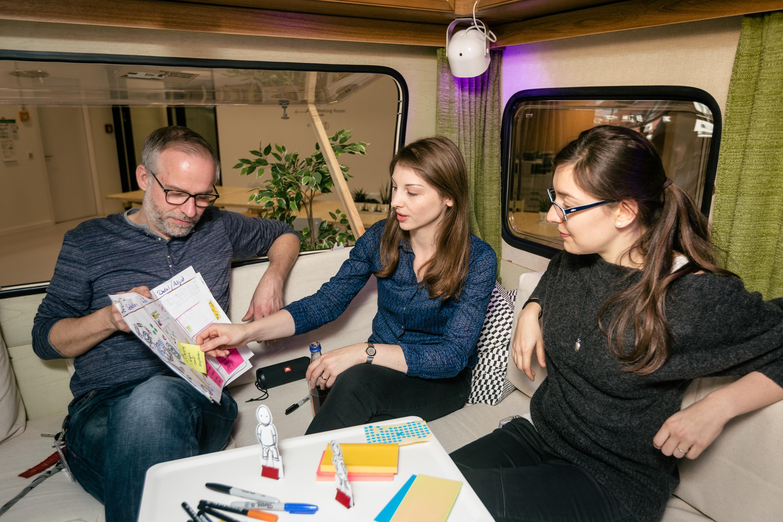 Meetings in a trailer